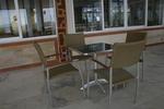 Устойчив метален стол за басейн