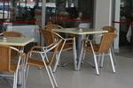 Устойчив градински стол произведен от метал