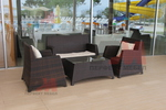 Качествени маси и столове от ратан антрацит